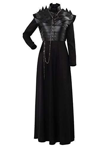 Game Thrones Of Sansa Kostüm - MingoTor Game of Thrones Season 8 S8 E2 Sansa Stark Leather Armor Cosplay Kostüm Damen XS
