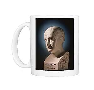 Mug Photo de phrénologie Buste Par L.N. Fowler