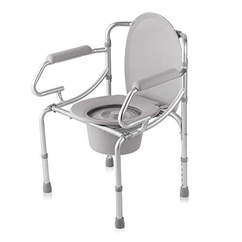 ZBYL Toilettenstuhl Höhenverstellbarer Antrieb Medical Aluminiumlegierung Erwachsene Bedside Drop-Arm Commode -