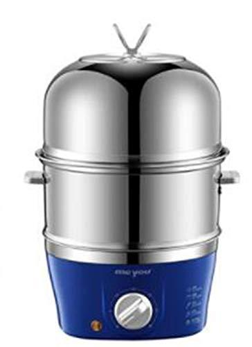 PsgWXL Eierkocher Home Egg Cooker Multifunktions-Frühstücksmaschine Automatische Abschaltung Edelstahl Gedämpfter Eierkocher
