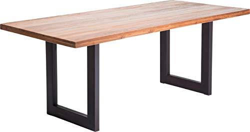Kare Design Tisch Factory Wood, Esstisch aus Teakholz