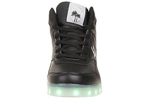 L.A. Gear Flo Lights, Chaussons montants mixte enfant Schwarz