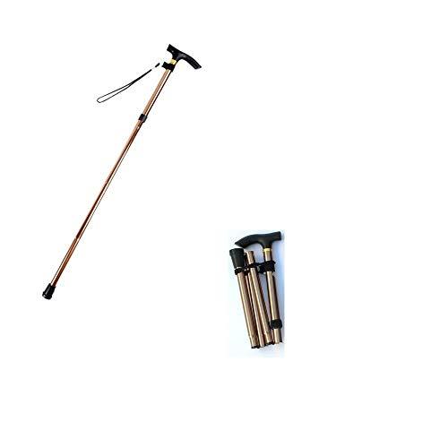 eBaskit Ltd® Faltbarer Gehstock, zusammenklappbar, aus Metall, für Reisen