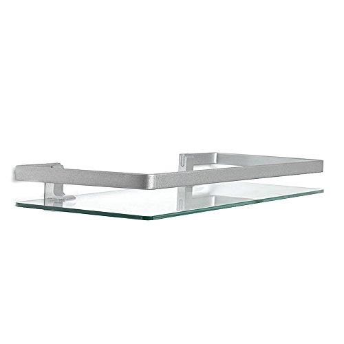 Wink design little rock,mensola da parete, vetro, trasparente, 50x19x5 cm