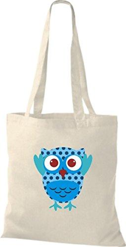 Jute diverse Retro ShirtInStyle Tragetasche Farbe Eule Stoffbeutel niedliche Owl natur Bunte ZgngBA8