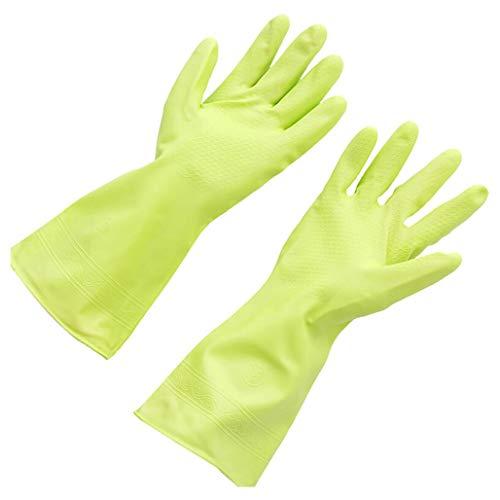 wyxhkj Wiederverwendbare Haushaltsgummi Handschuhe wasserdicht Küche Reinigung Handschuh für Dish Waschen, Wäsche und Garten (B)