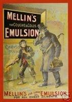 1358 EXTRA GRANDE DEL METAL MELLIN EMULSION PUBLICIDAD SIGNO DE PARED RETRO ART