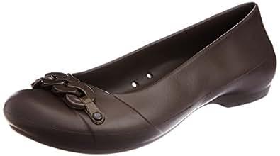 crocs Women's Gianna Link Flat,Espresso/Espresso,6 M US