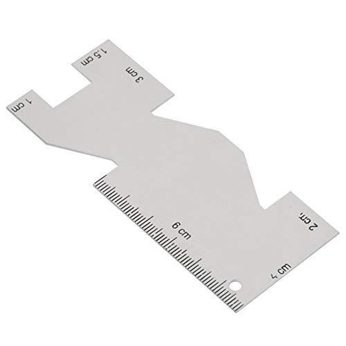 Herramienta de costura de la regla de acolchado del indicador de medición del metal Accesorio conveniente para coser la costura del bordado y el proceso de la artesanía