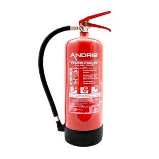 Feuerlöscher 6kg ABC Pulverlöscher mit Manometer EN3 inkl. ANDRIS® Prüfnachweis mit Jahresmarke