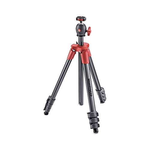 Manfrotto Compact Light - Trípode Completo, Rojo