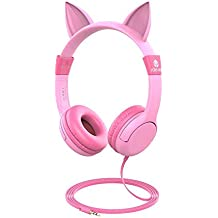 Auriculares para niños, iClever Volume Limiting Auriculares para niños Sobre el oído Auriculares para bebés