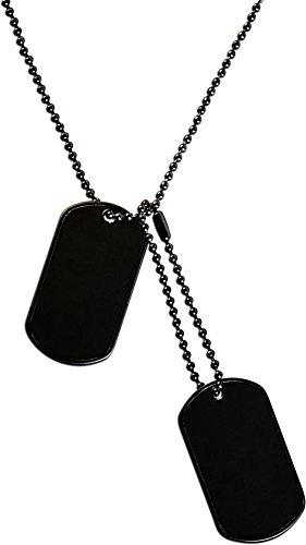 normani 1 Paar US ERKENNUNGSMARKEN Dog TAG's Navy Seals HUNDEMARKEN schwarz -