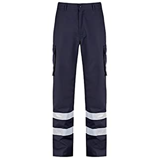 Alsico Alsi Cargo Trouser With Reflective Tape (40R (31'), Blue Shadow)