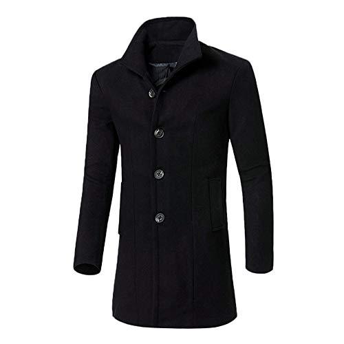 Maglione uomo cappotto inverno risvolti felpa con cappuccio hoodie maniche lunghe distintivo sweatshirt camicetta dolcevita classico tops qinsling