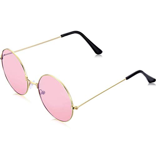 Schimer Vintage Men Women Hippie Sunglasses Retro Round Alloy Frame Eyeglasses Glasses Eyewear Sunglasses