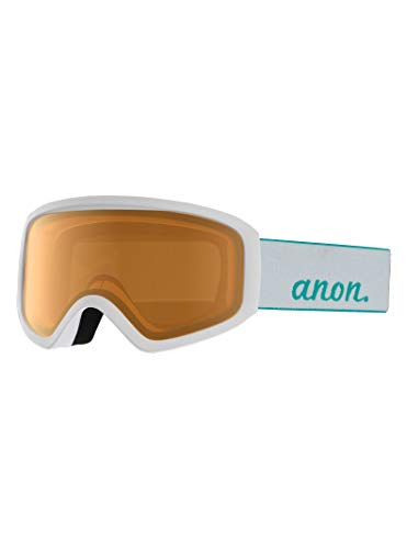 Anon Damen Insight Non Mirror Snowboardbrille, White/Amber