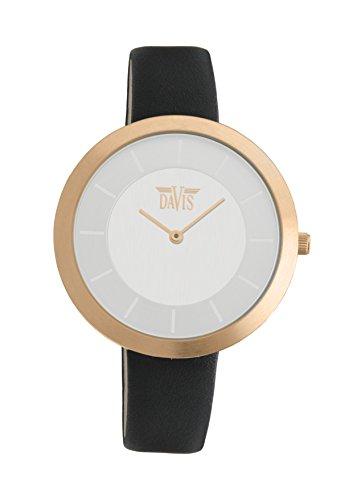 Davis 2036 - Reloj de pulsera Mujer, Cuero, color Negro