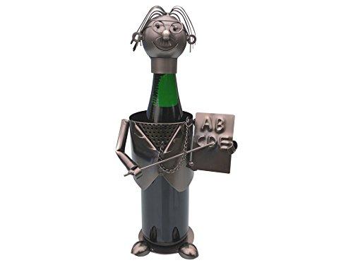 eXODA - Soporte para botella de vino para profesor de escultura de metal