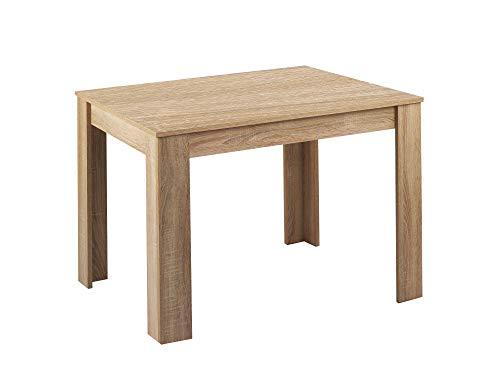 HOMEXPERTS Tisch NICK / Moderner Esstisch 120 cm / Küchentisch in Eichen-Optik hellbraun / 120 x 80 x 75 cm (BxTxH)