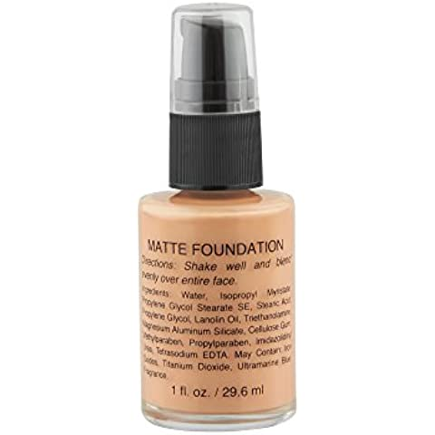 New Lightweight Matte Liquid Foundation, Full Coverage, For All Skin Type (Cool Beige) by Brilliant Shades