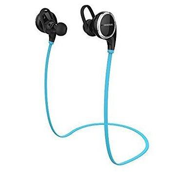 Cuffia Bluetooth, VANDESAIL Auricolare Bluetooth Headset 4.1 per Sport Stereo Cuffie Wireless con Auricolari e Microfono per iPhone 6 Plus/ 6/ 5s/ 5c/ 5 Samsung Smartphone Tablet PC (Blu Nero)