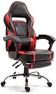 Mahmayi High Back Video Gaming Chair PU Leatherette (Red-Chrome)