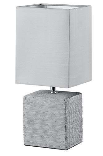 Reality Ping - Lámpara de sobremesa para interior. Incluido interruptor de cable. Necesaria 1 bombilla E14 de máximo 40W excluida. Base de cerámica y ...