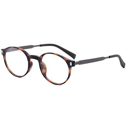 VEVESMUNDO Brillen ohne sehstärke Damen Herren Brillengestelle Brillenfassung Fakebrillen Deko Brille Klassische Retro Rund Hornbrille Pantobrille mit Brillenetui (TYP1 - Schildpatt & Grau)