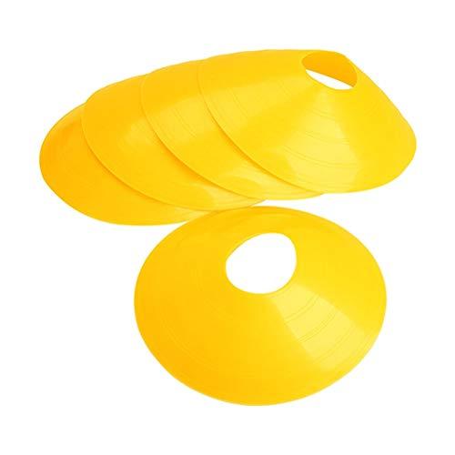 LIOOBO 10PC Disc Cones - Agility Soccer Cones mit Tragetasche und Halter für Training, Fußball, Kinder, Sport, Field Cone Marker -