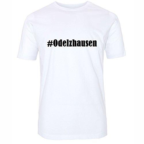 T-Shirt #Odelzhausen Hashtag Raute für Damen Herren und Kinder ... in den Farben Schwarz und Weiss Weiß