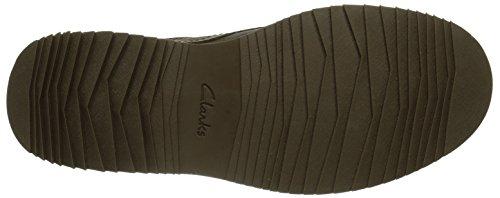 Clarks  Mahale Plain, Chaussures de ville à lacets pour homme - Marron - Braun Marron - Braun (Dark Brown Oily Nubuck)