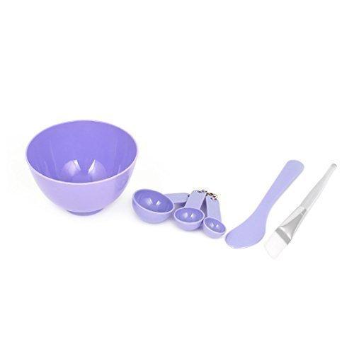 sourcingmap® Maquillage à bricoler soi-même Masque Facial Bol Pinceau Cuillère Bâton outil de beauté 15.2cm1 Violet