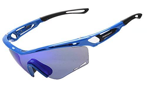 Coniea Schutz Brille Mode TPU+PC Sportbrille Damen Laufen Schutzbrillen Blau