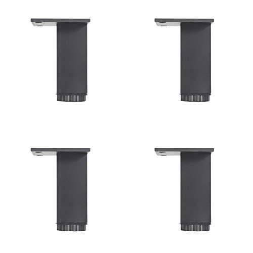 Furniture support foot Aluminiumlegierung Schrank fuß möbel unterstützung fuß Hardware möbel zubehör - Vier Packungen, Verstellbarer quadratischer Schrank fuß tv Schrank fuß Bad Schrank fuß Bett fuß