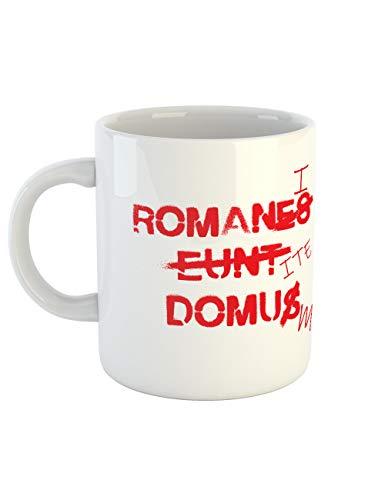 se Latein - Romani Ite Domum Kaffeetasse mit Aufdruck ()