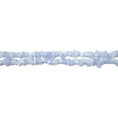 Filo 150+ blu calcedonio 3x5mm chips tagliato a mano perline cb36554 (charming beads)