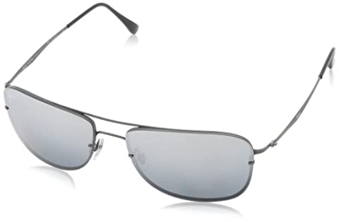 Ray Ban Rb8054 Tech Sandblasted Gunmetal Frame/Polarized Grey, Silver Mirror Lens Titanium Sunglasses