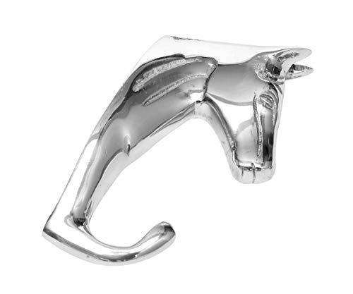 Brillibrum Design Wandhaken Pferd Kleiderhaken aus Aluminium Trensenhalter Garderobenhaken für Halfter