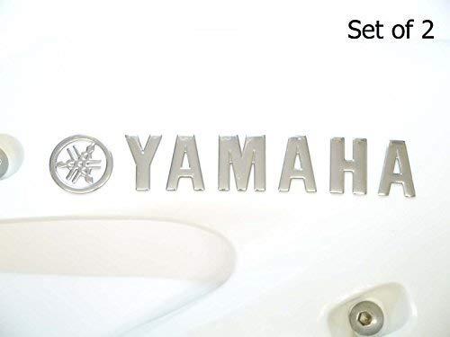 2 x Cromado Yamaha Motocicleta Emblema Insignia Moto Tanque De Gasolina De...