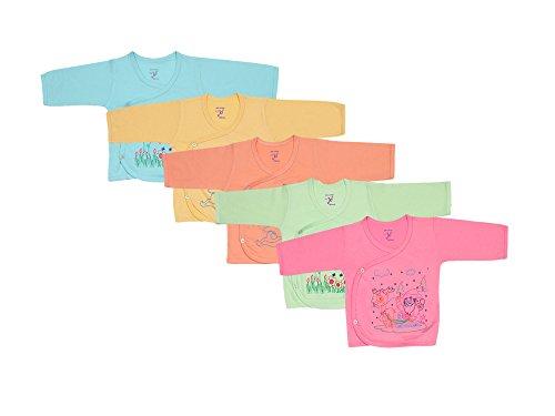 Jo Kids Wear New Born Baby Cotton Top dress set (0-3 months_Set Of 5)