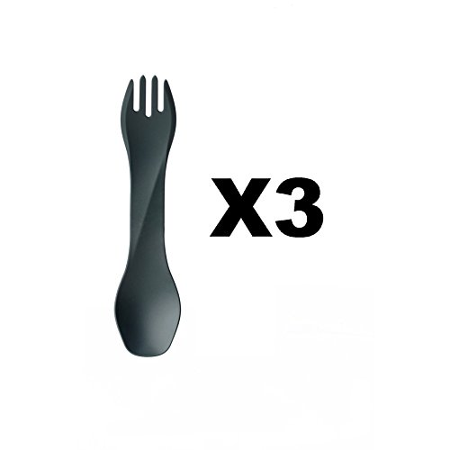 humangear-gobites-uno-utensil-fork-and-spoon-bpa-free-camping-tool-gray-3-pack
