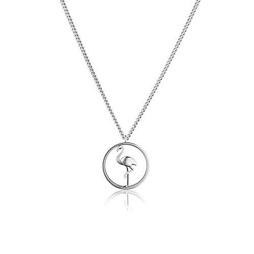 PAUL HEWITT Edelstahl Halskette Damen Tropicool - Edelstahl Kette Damen, Kette Silber Damen mit Anhänger (Flamingo)