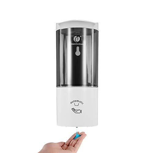 Anself - 500ml Dispensador de Jabón Montado a Pared, Inteligente de Sensor IR Infrarrojo