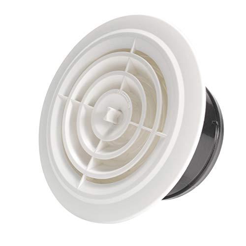 Hon&Guan ABS Rejilla de Ventilación Ajustable para Baño Oficina Sala (ø100mm)