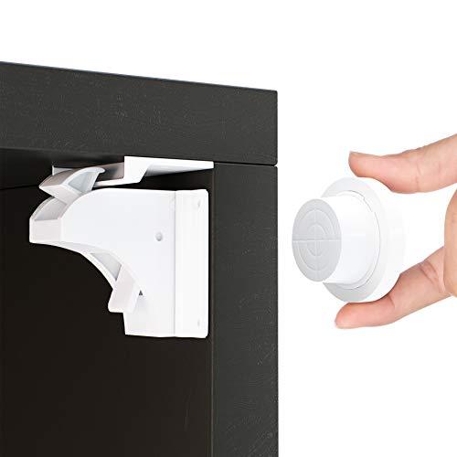 Magnetische Kindersicherung Schrank und Schubladen von Avantina® - 4 x Schranksicherung - unsichtbare Kindersicherung - Kinder-sicherung für Küchen, ohne Bohren