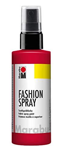 Marabu - vernice per stoffa con erogatore spray, 100 ml, colore rosso