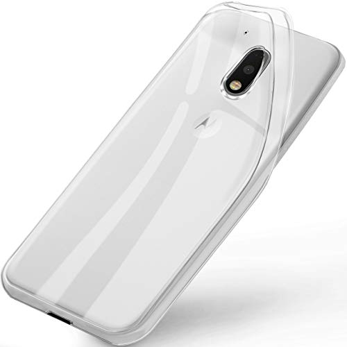 ONEFLOW Lenovo Moto G4   Hülle Silikon Transparent Frosted Back-Cover Stoßfeste Schutzhülle Clear Handy-Hülle für Motorola Moto G4/G4 Plus Case Dünn Silikonhülle Tasche