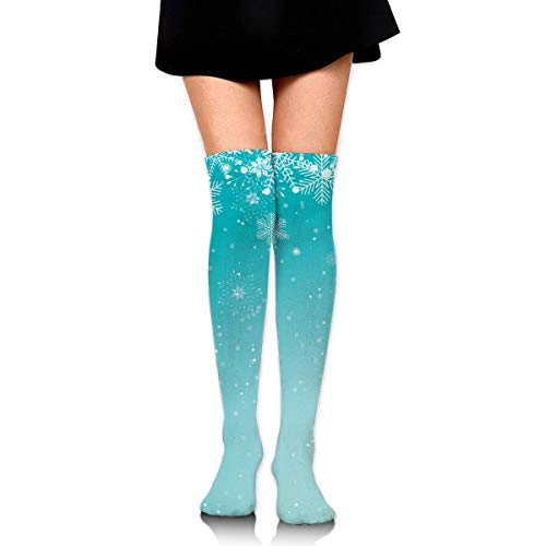HRTSHRTE Cute Christmas Blue Sky Squirrel Hanging Ankle Stockings Over The Knee Sexy Womens Sports Athletic Soccer Socks
