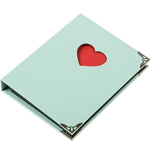 (XM Alben ZfgG Fotoalbum Sammelalbum DREI-Ring-Loch Clip Loseblatt Buch Retro DIY Handmade Gedenkalbum Baby Paar Reise Liebe Einfügen Album (Farbe : Blau))